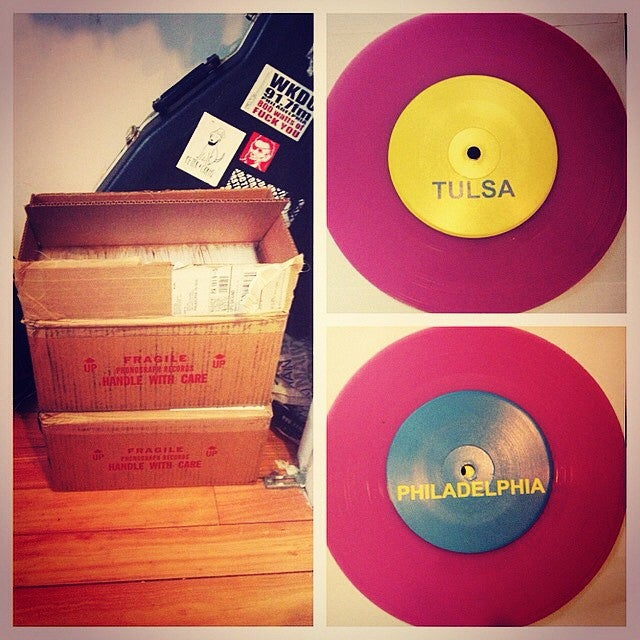 "Image of Mike Bell and the Movies + Lizard Police Split 7"" - Philadelphia/Tulsa"