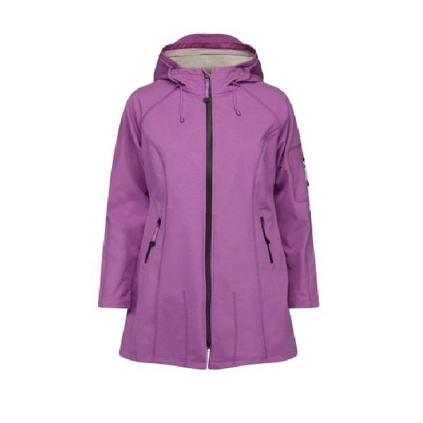 Image of ILSE JACOBSEN 3/4 LENGTH RAINCOAT - Mulberry