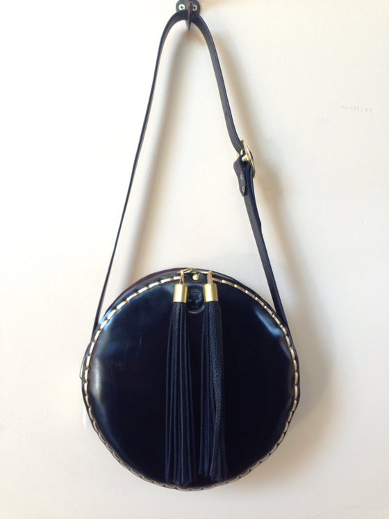 Image of Cantina black leather shoulder bag
