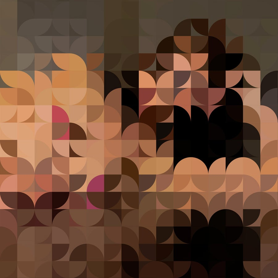 Image of Squint Abstract Nude Print - 1