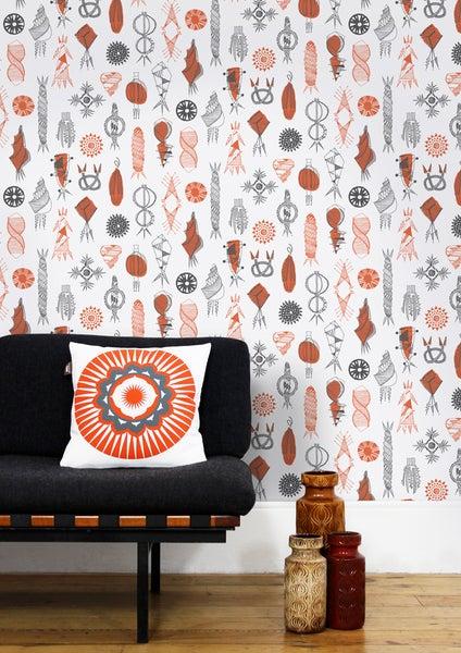 Image of Equinox Wallpaper - Harvest Orange