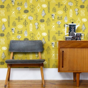 Image of Equinox Wallpaper - Mustard