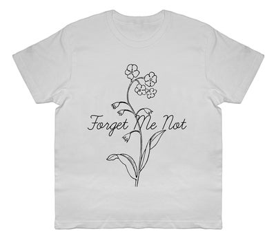 Image of FORGET ME NOT white sale t-shirt