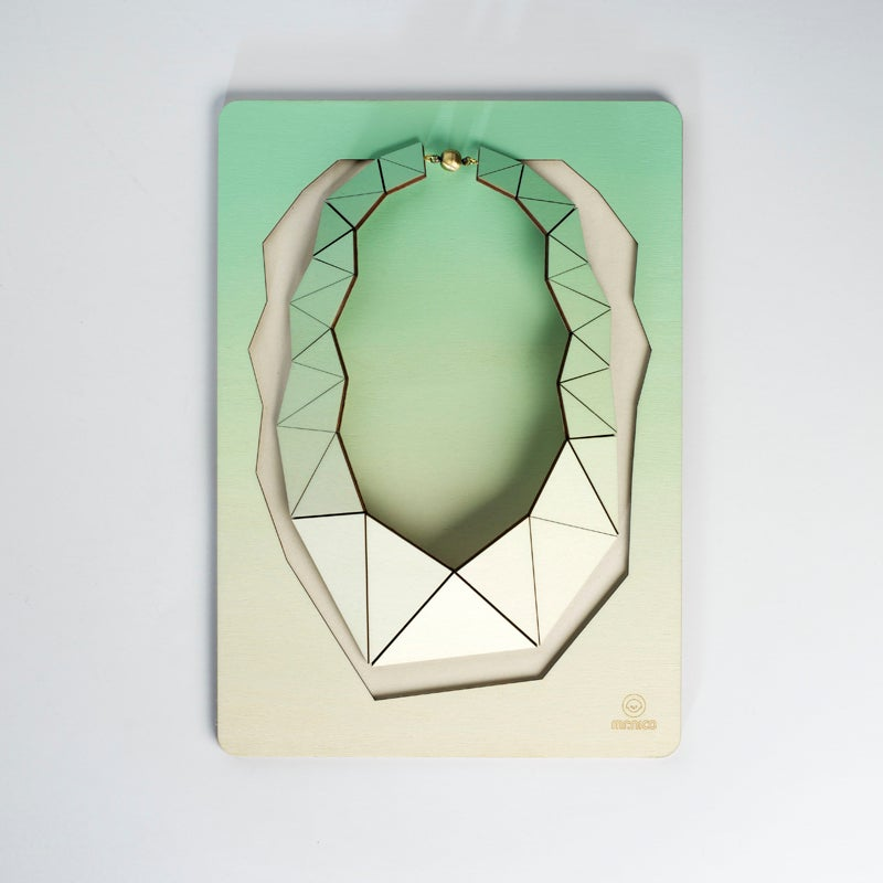 Image of Facets necklace 007 mint green
