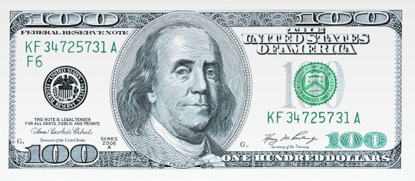 "Image of ""One Hundred Dollar Bill"" - Original Artwork"