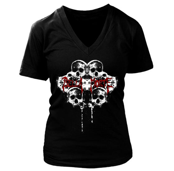 Image of Girls Deep-V Skulls Tee