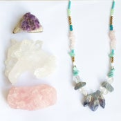 Image of Anima Necklace - amethyst, rose quartz, amazonite
