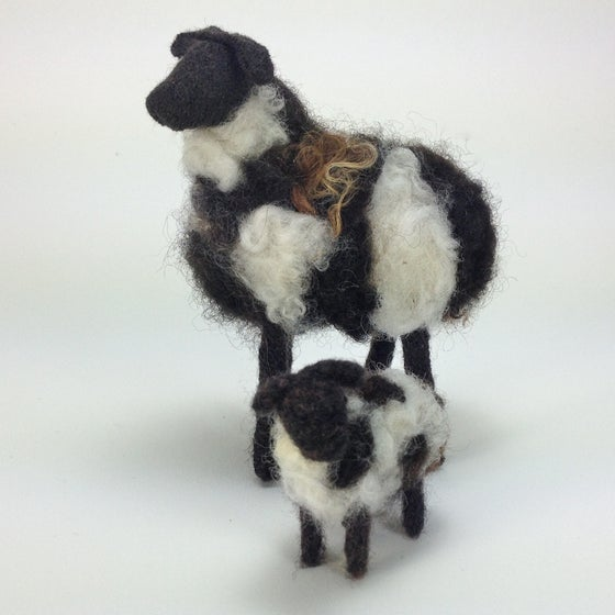 Image of Breed Specific Sheep - Jacob Ewe & Lamb - Custom Order