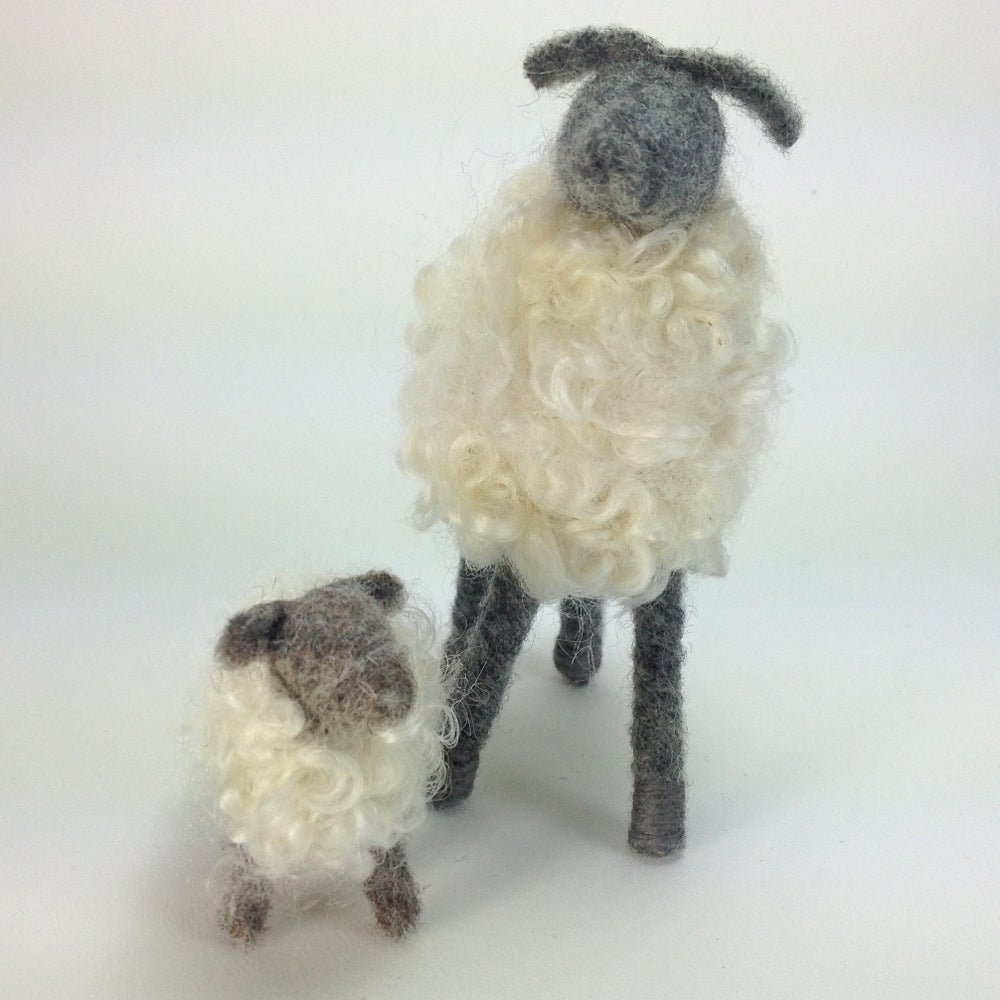 Image of Breed Specific Sheep - Wensleydale Ewe & Lamb -Custom Order
