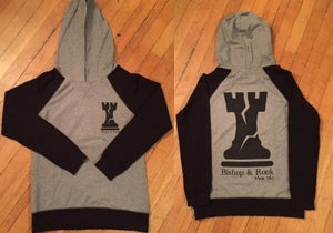 Image of Ladies Grey Pullover Hoodie Shirt