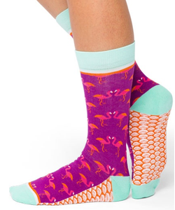 Image of Flirty Flamingo : Woven Pear Socks