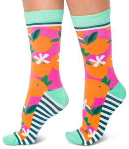 Image of Orange You Glad : Woven Pear Socks