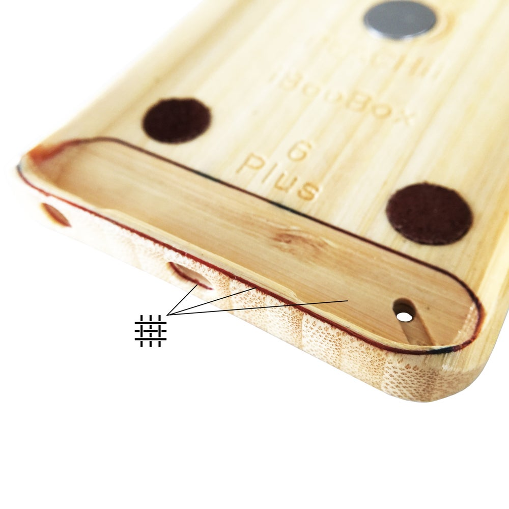 Carbon Fiber reinforcing layer added to Natural bamboo iBooBox