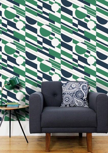 Image of P.L.U.T.O. Wallpaper - Coach Emerald & Silver