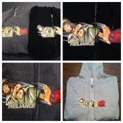 """Image of """"Jesus/satan"""" zipper hoodie"""