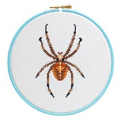 Image of Tawny Spider cross-stitch PDF pattern