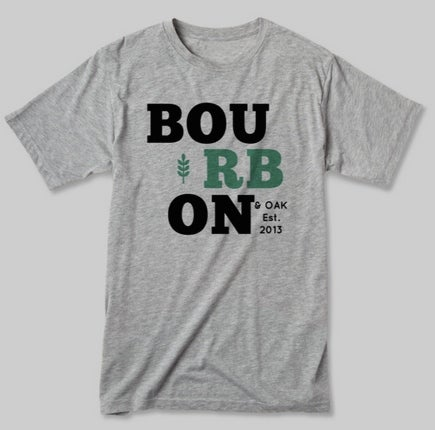 Image of Men's Bourbon & Oak Teal Tee