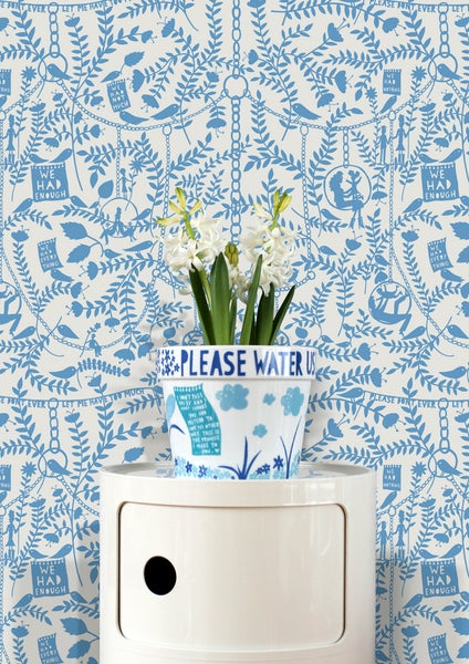 Image of We Had Everything Wallpaper - China Blue