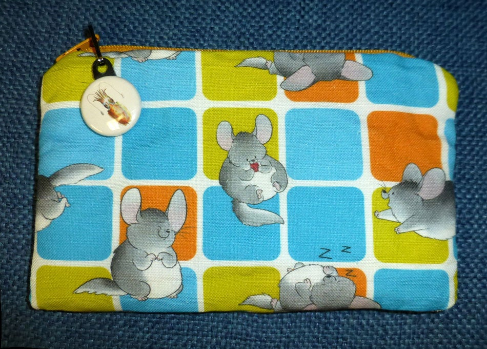 Image of Canvas Fabric Zippered Coin Purse/iPhone Case