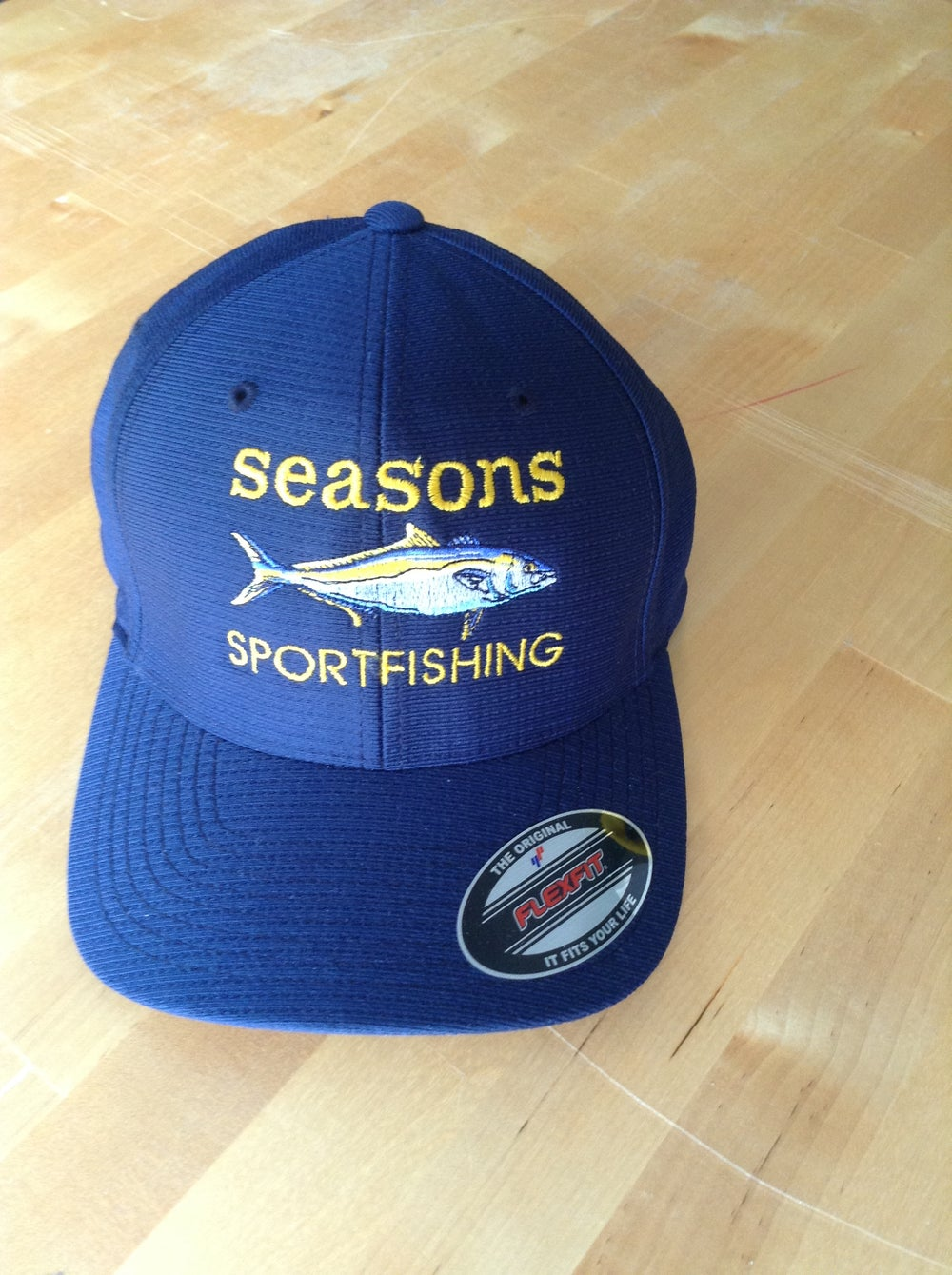 Image of SEASONS -YELLOWTAIL - NAVY - FLEXFIT