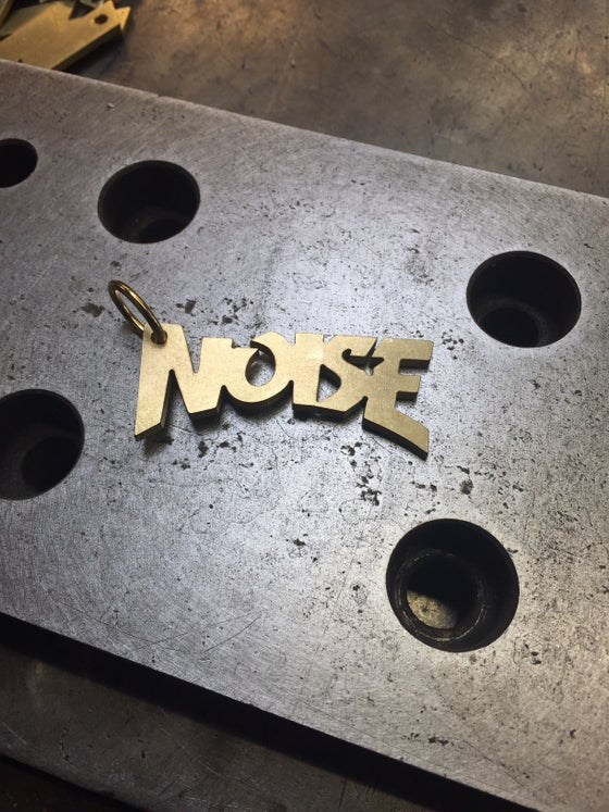 Image of Brass NOISE keychain