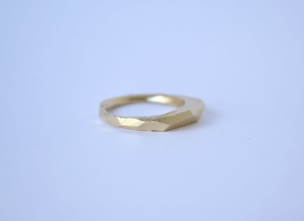 Image of Thin Gold Slab Ring