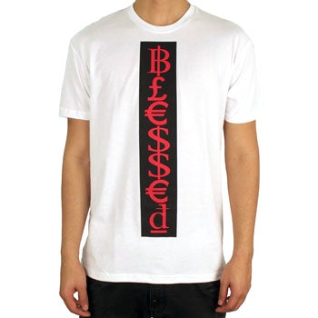 Image of Blessed Tee (White/Black/Red)