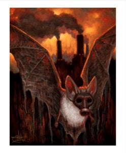 "Image of The Bat Escapes- 8x10"" Open Edition"
