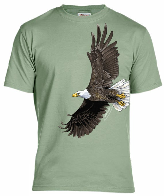 Bald eagle t shirt coyote graphics for Cheap t shirt printing next day delivery