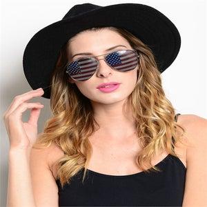 Image of American Flag Aviator Sunglasses