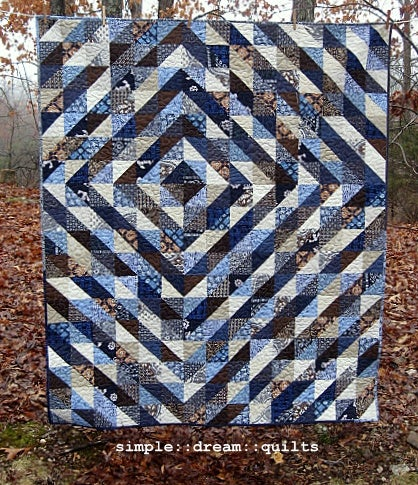 "Image of indigo maze - nap quilt - 72"" x 61"""