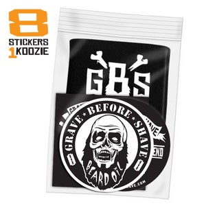 Image of GBS Stickers & Koozie swag pack