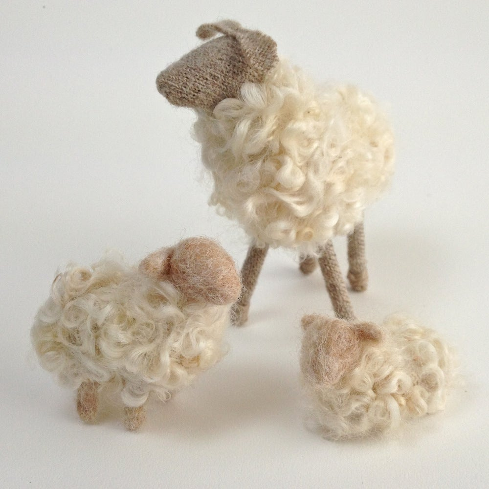 Image of Breed Specific Sheep - Teeswater Ewe & Lambs - Custom Order