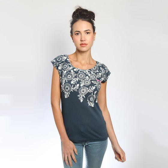 Image of Denim Poppy Bamboo T