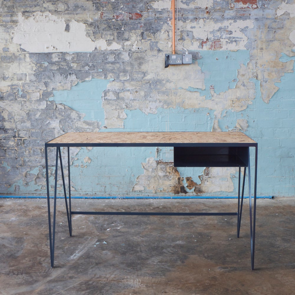 Image of Study desk in blue