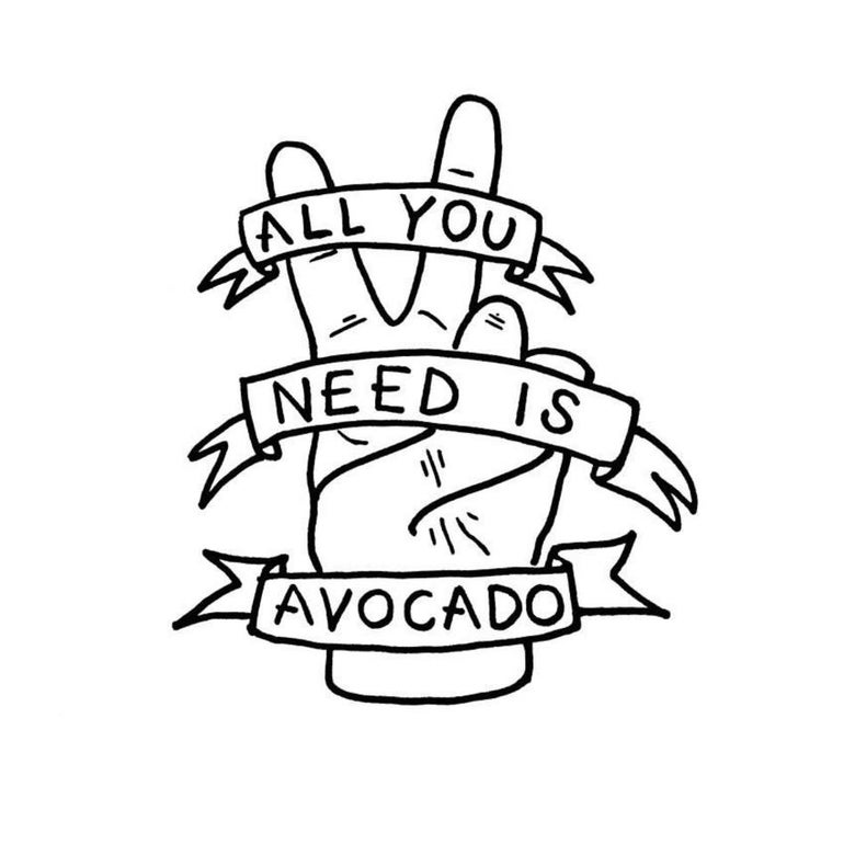 Image of all you need is avocado A4 print