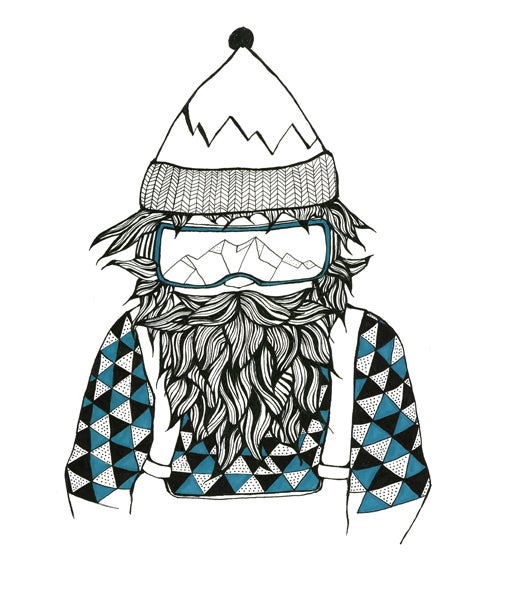 Image of snowy beard