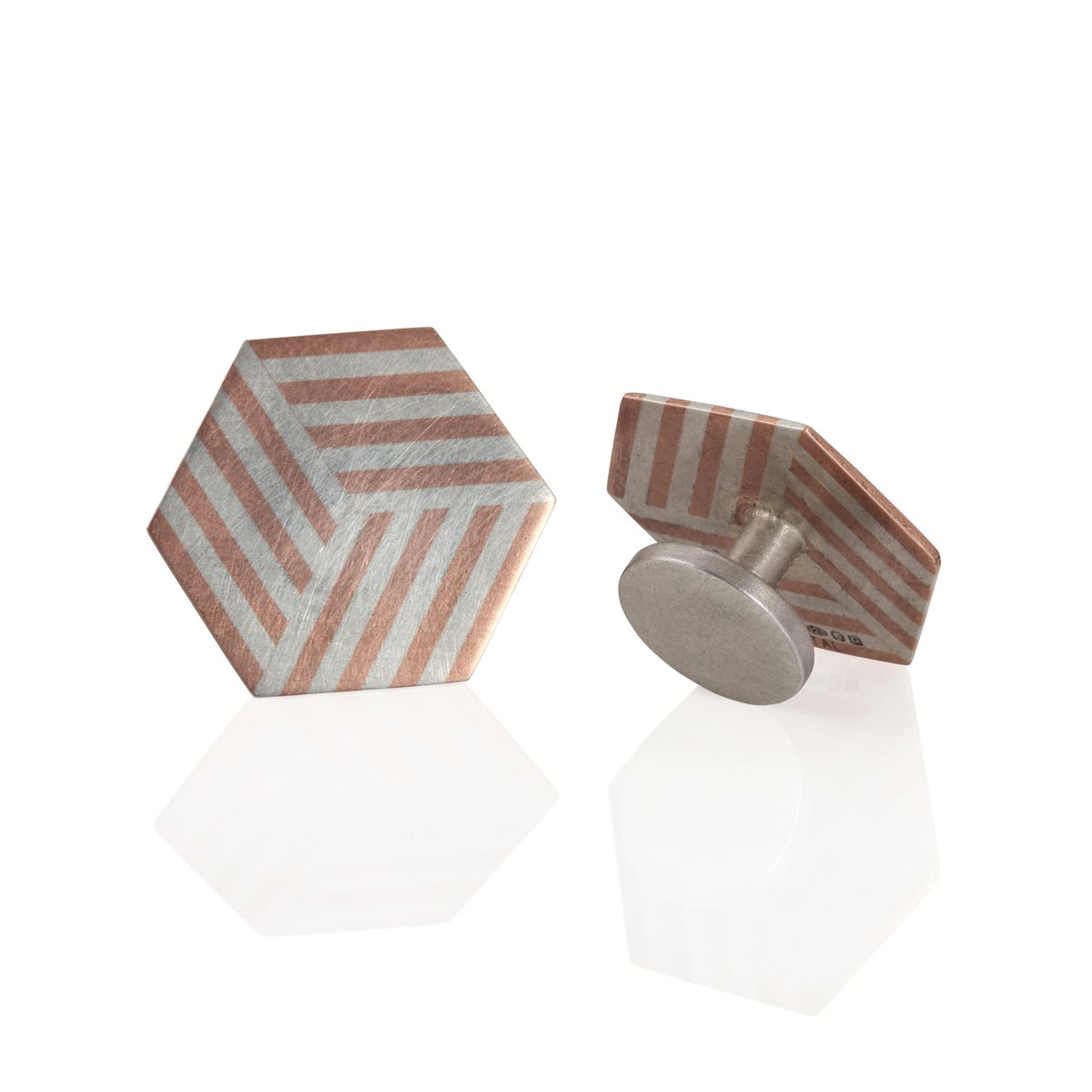 Image of Cufflinks 'Ply / Hexagon'