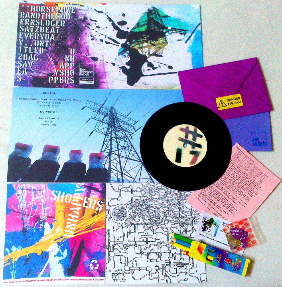 "Image of BBR#17 UNHAPPY SHOPPERS Limited Edition 6 track 7"" E.P"