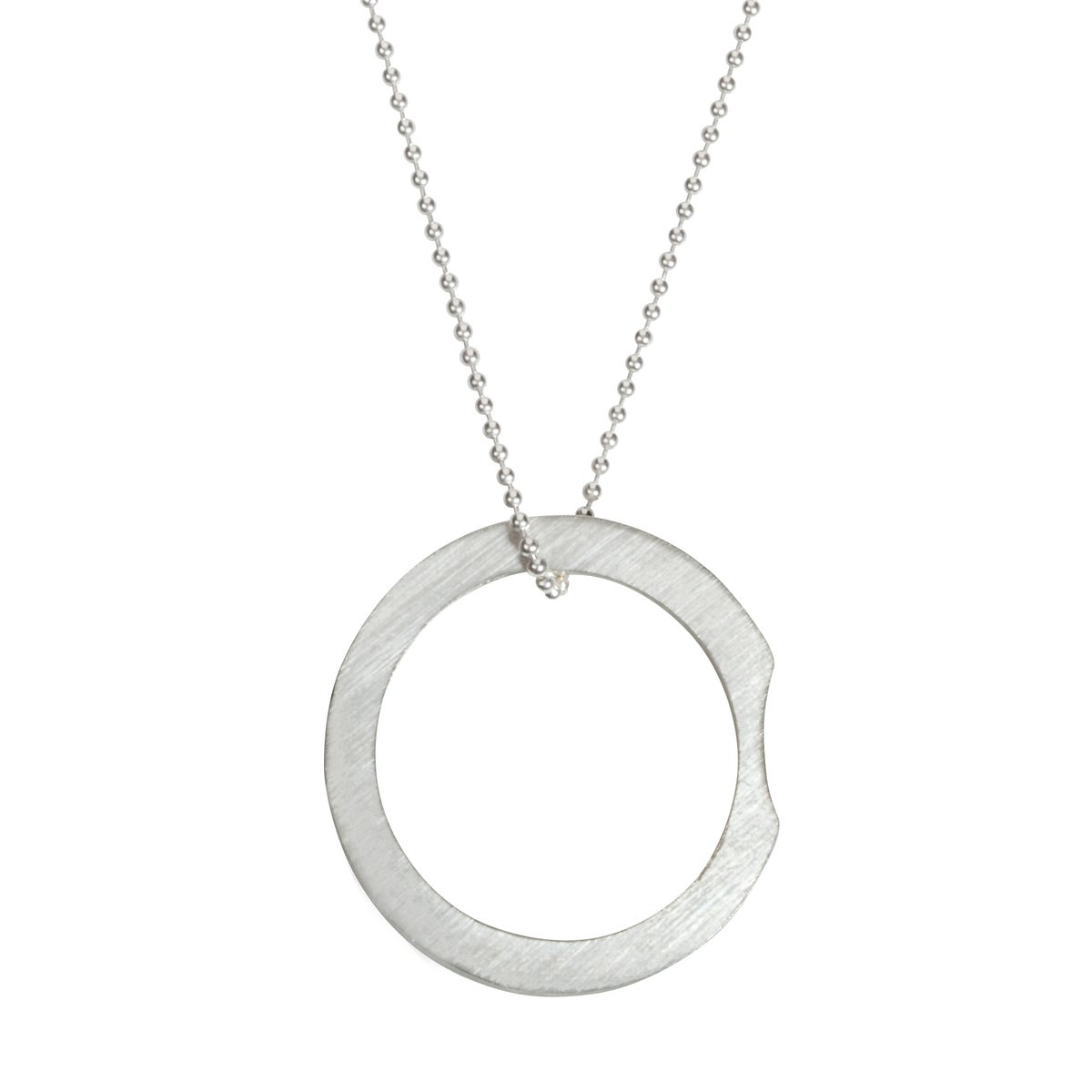 Image of Convertible necklace/ring 'Circle+|- #2 Bite'