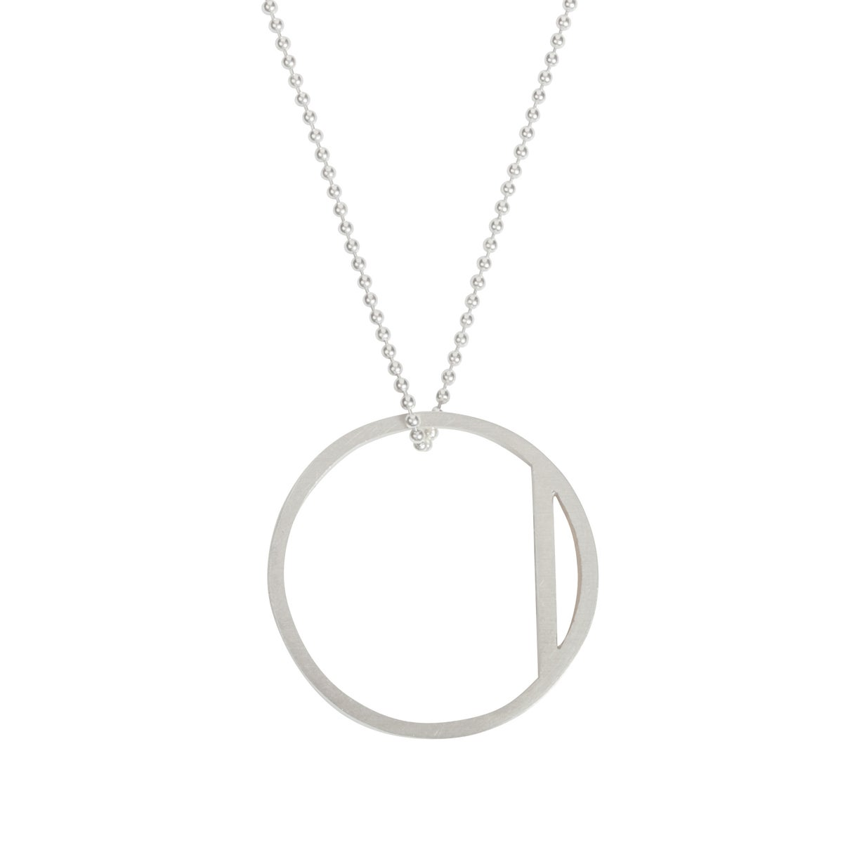 Image of Convertible necklace/ring 'Circle+|- #3 Bar'