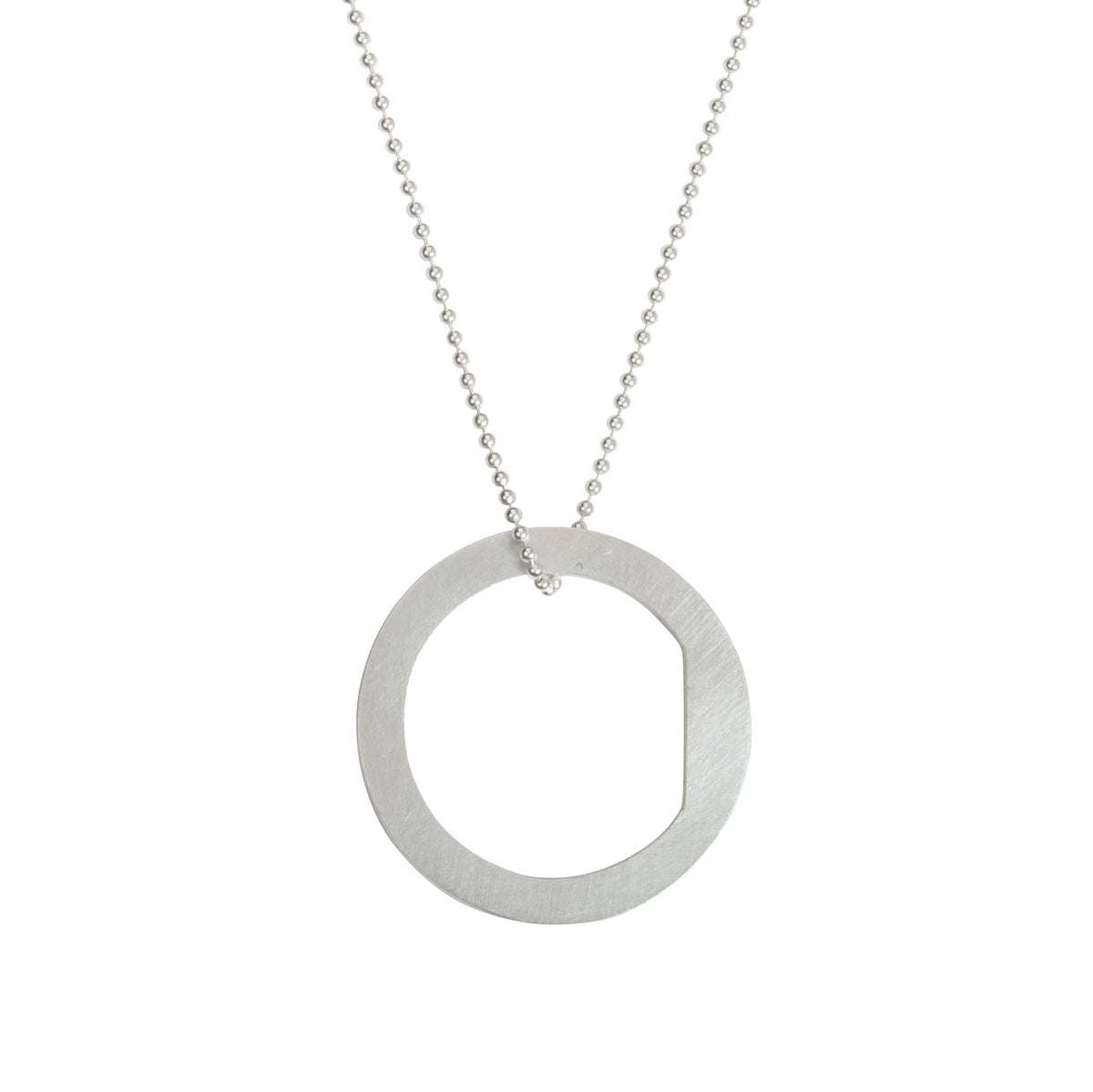 Image of Convertible necklace/ring 'Circle+|- #1 Block'