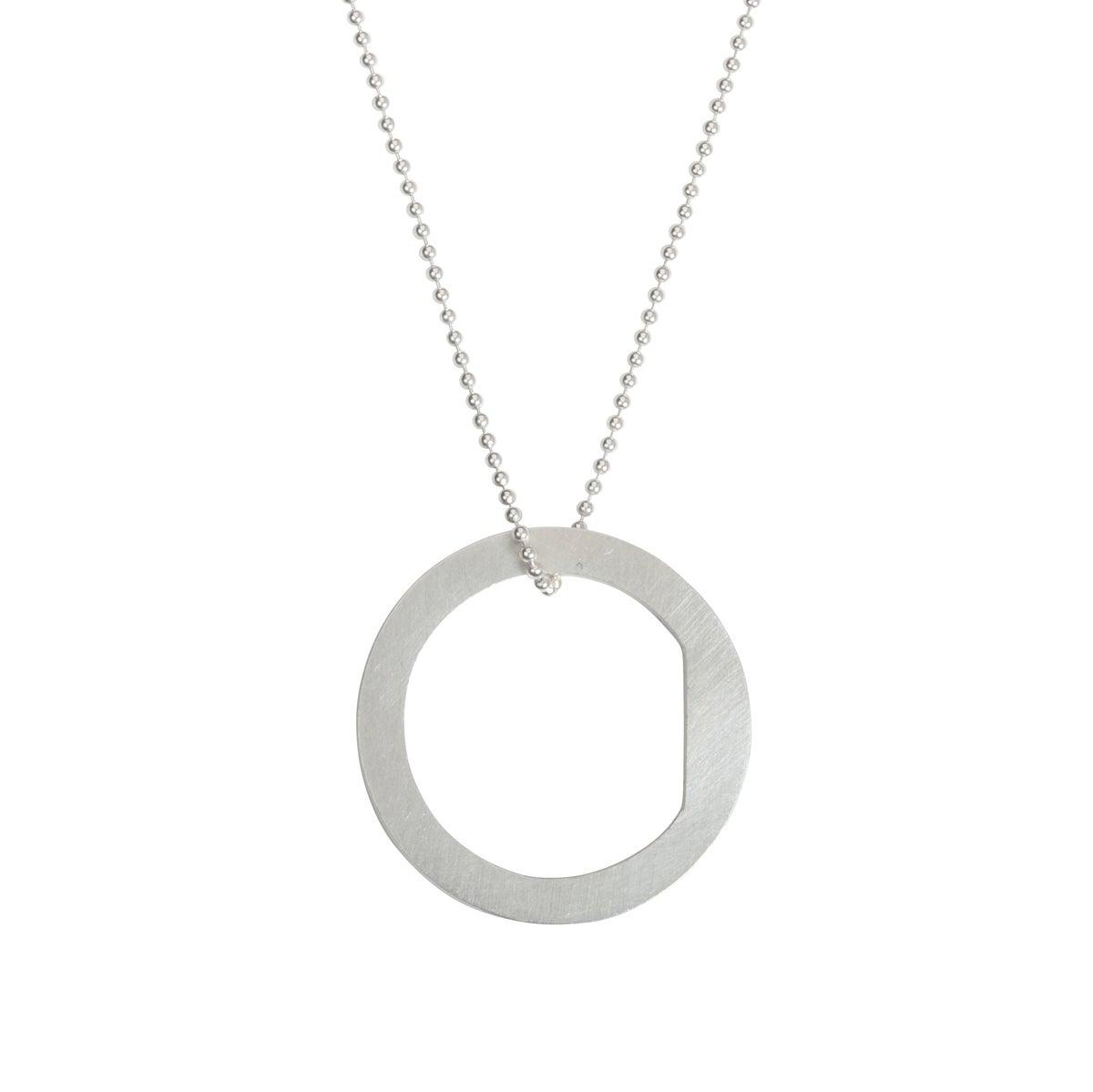 Image of Convertible necklace/ring 'Circle+|- #1 Block'