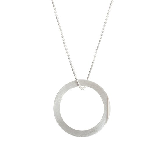 Image of Convertible necklace/ring 'Circle+|- #6 Facet'