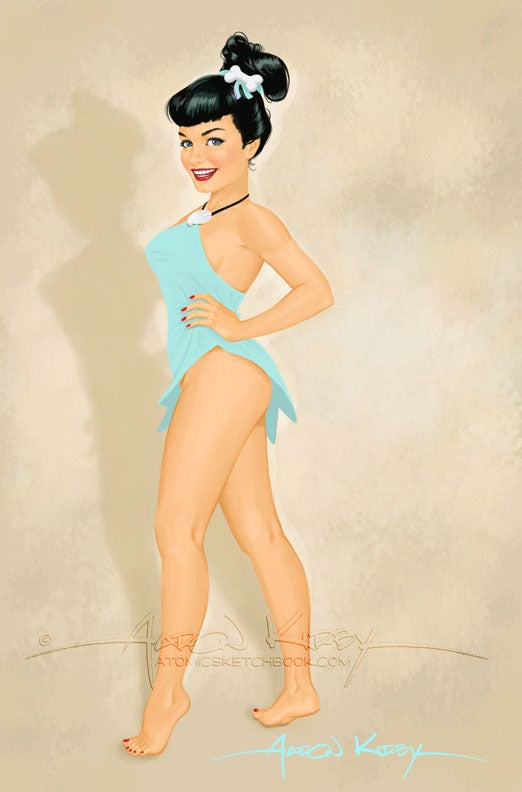 Image of Bettie as Betty print