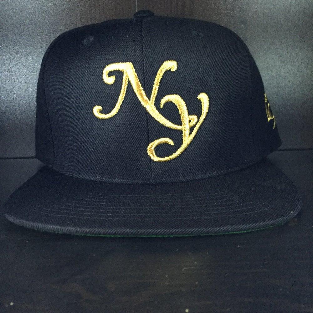 "Image of Black x Gold  ""NY"" SnapBack"