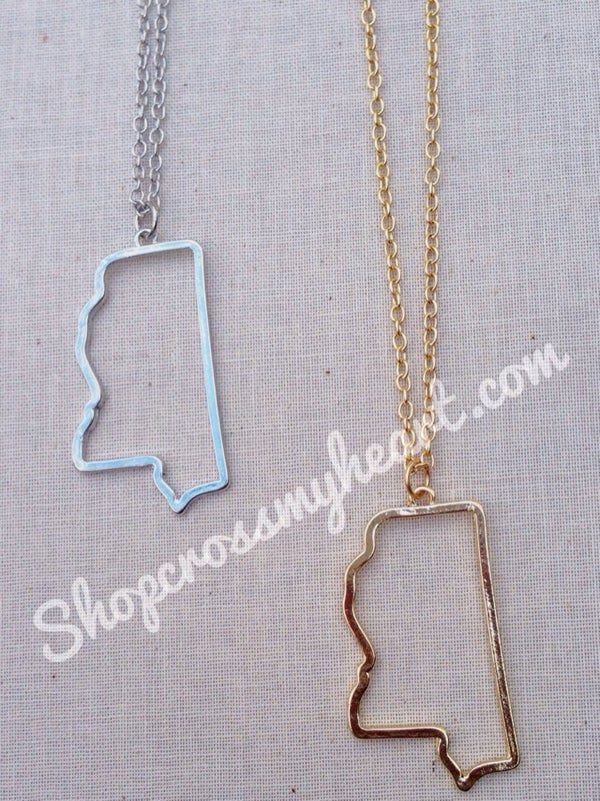 Image of Mississippi Cutout Necklace