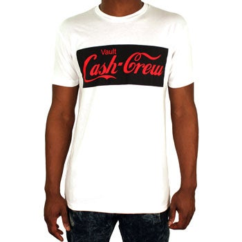 Image of Cash Crew Tee (White/Black/Red)