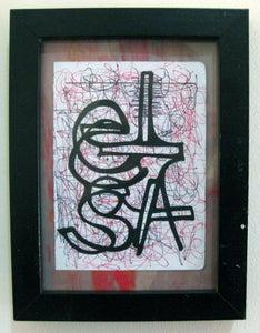 Image of  MJL Framed 'Elsa' Drawing