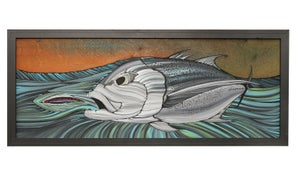 """Image of """"Final Approach"""" Giant Trevally Original painting"""